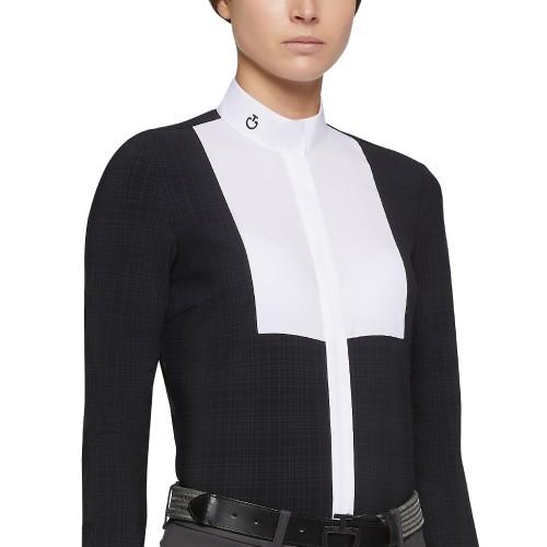 Cavalleria Toscana Women's Embossed striped shirt