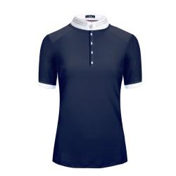 Cavallo ladies' Dark blue short-sleeved Panita shirt.