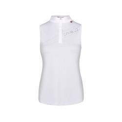 Cavallo Women's  Salsa sleeveless Function competition shirt - White