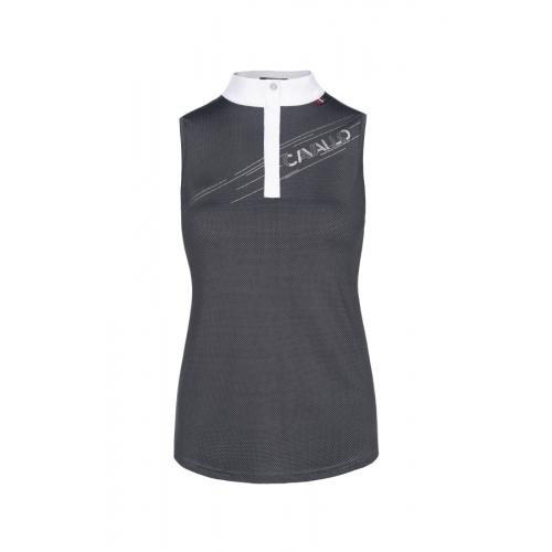 Cavallo Women's  Salsa sleeveless Function competition shirt - Black