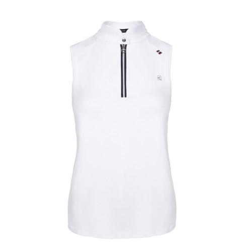Cavallo Women's  white sleeveless Sava competition shirt.