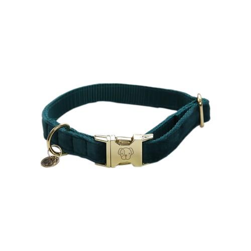 Kentucky dogwear Velvet collection dog Collar - Emerald