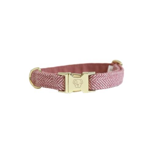 Kentucky dogwear wool collection dog collar - Light Pink