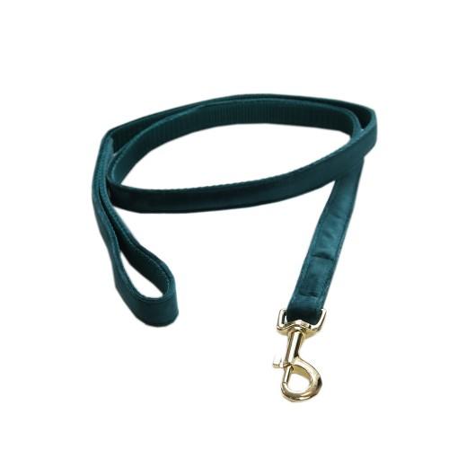 Kentucky dogwear Velvet collection dog lead - Emerald