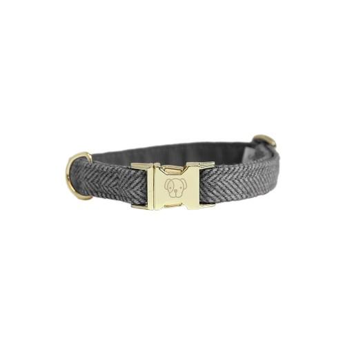 Kentucky dogwear wool collection dog collar - Grey