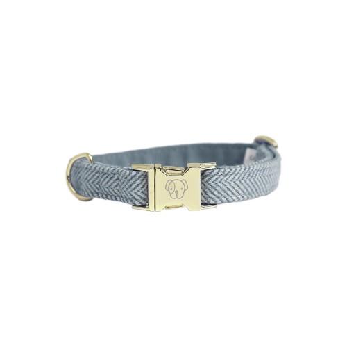 Kentucky dogwear wool collection dog collar - light Blue