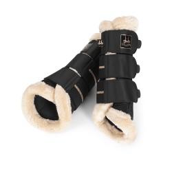 Eskadron Heritage mesh Faux fur brushing Boots - Black