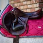 PS of Sweden Jump Monogram saddle pad - scarlet