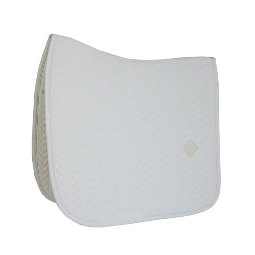 Kentucky dressage Fishbone saddle pad - White