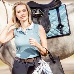 PS of sweden  Minna sleeveless polo shirt - Aqua