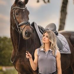 PS of sweden  Minna sleeveless polo shirt - Grey