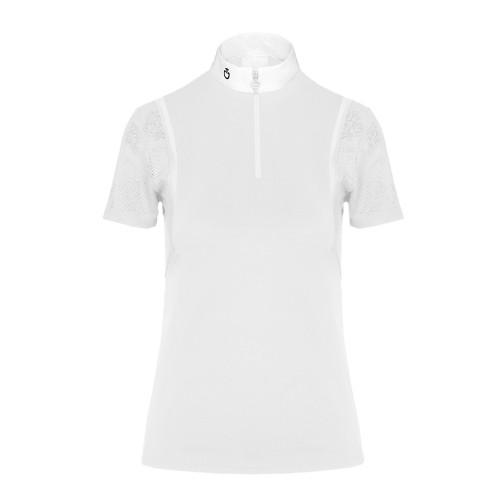 Cavalleria Toscana ladies white Piquet and mesh Competiton polo shirt