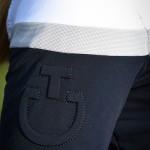 Cavalleria Toscana Ladies jersey fleece training polo -Navy/white