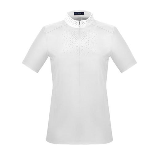 Cavallo Karina white ladies short sleeved show shirt
