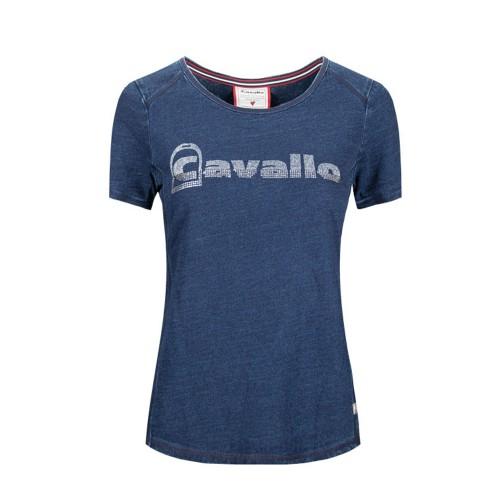 Cavallo Ladies Piala round neck T shirt - Indigo