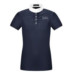 Cavallo Katara Slim Navy ladies short sleeved show shirt