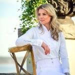 PS of Sweden ladies light blue and white  Doris shirt.