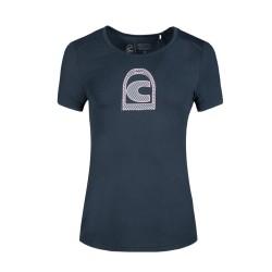 Cavallo Ladies Perina round neck T-shirt - Dark blue