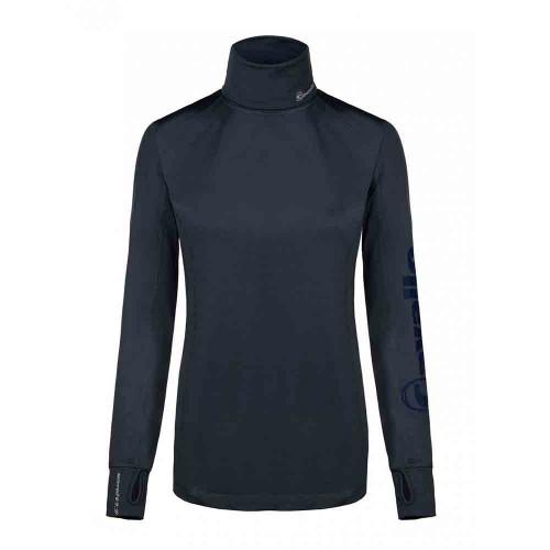 Cavallo Ladies Oliva roll neck function top dark blue