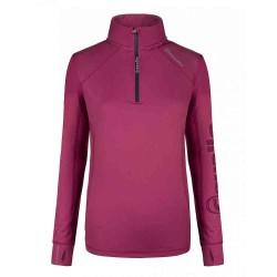 Cavallo ladies functional fleece lined Orfea top - Hot Pink