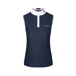 Cavallo ladies Pamuy sleeveless navy competition shirt