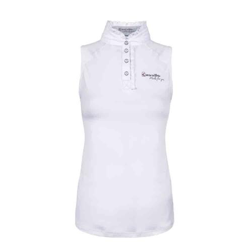 Cavallo Nele White Ladies Sleeveless Show Shirt