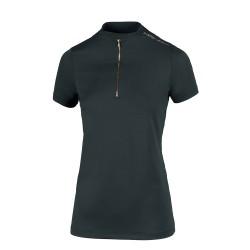 Pikeur Linne Athleisure zip shirt - Dark green