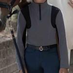 Cavalleria Toscana Young rider jersey Fleece training top - Grey