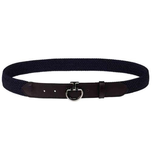 Cavalleria Toscana Ladies Elasticated belt with CT logo buckle - Black