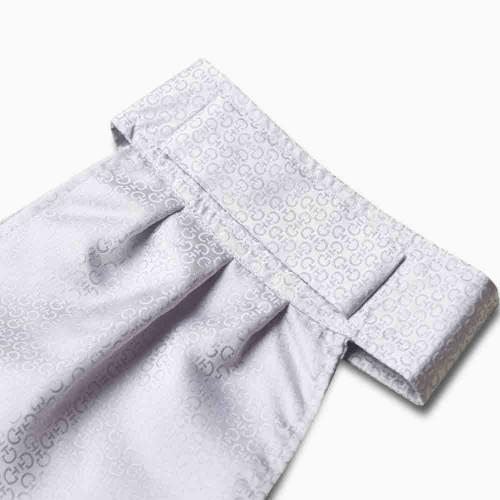Cavalleria Toscana Silver grey logo pure silk ready tied stock