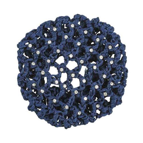 Ladies Navy Crystal decorative Hairnet