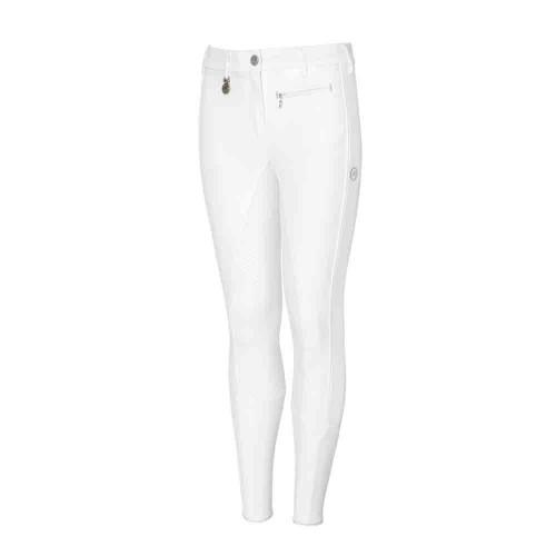 White Pikeur Lucinda Grip Youths Breeches
