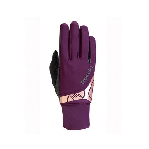 Roeckl Melbourne horseriding Gloves - Grape wine
