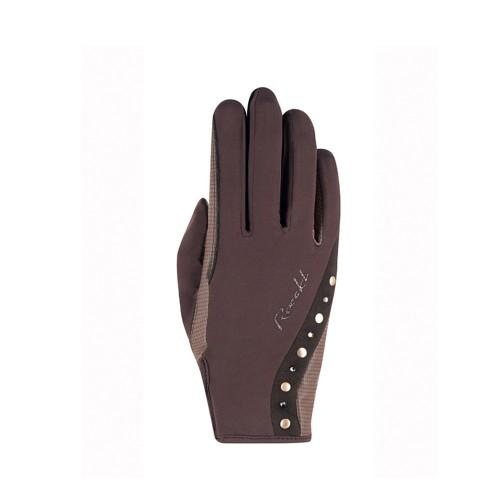 Roeckl Ladies Winter Mocha Jardy horse riding gloves