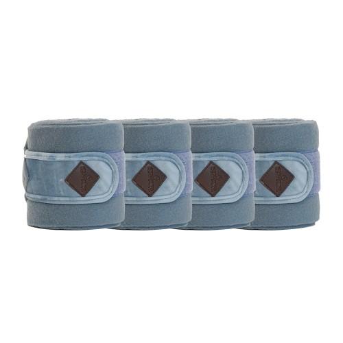 Kentucky horsewear Light Blue Velvet Fleece bandages