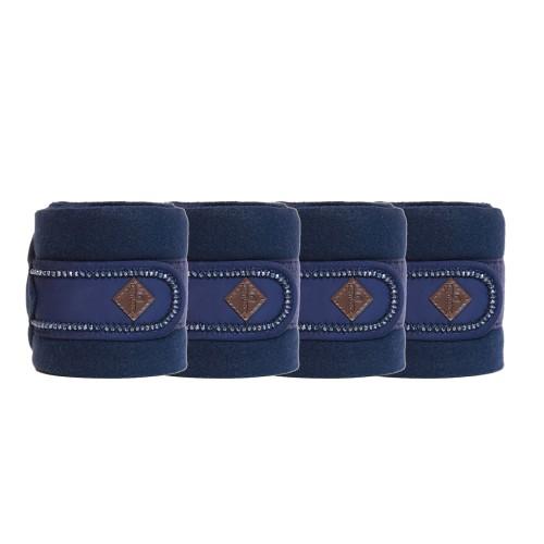Kentucky horsewear Navy pearls Polar fleece bandages