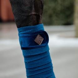 Kentucky horsewear Navy Velvet Fleece bandages