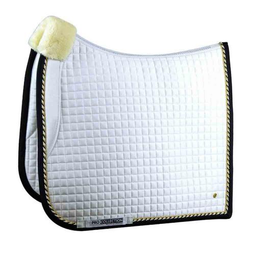 PS of Sweden Pro Dressage White saddle pad - Navy binding