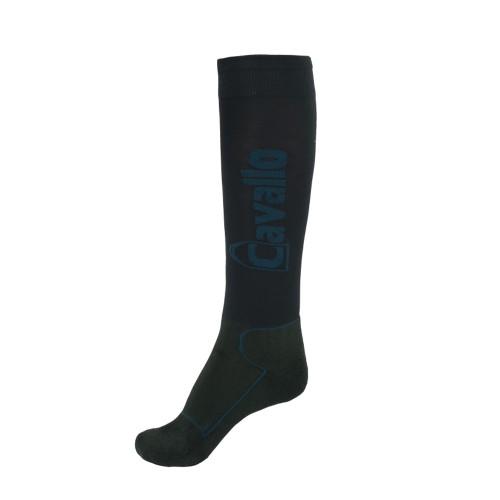 Cavallo Simo Knee high Riding socks - dark blue/Ocean