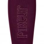 Pikeur Knee high riding socks with stud logo - Bordeaux